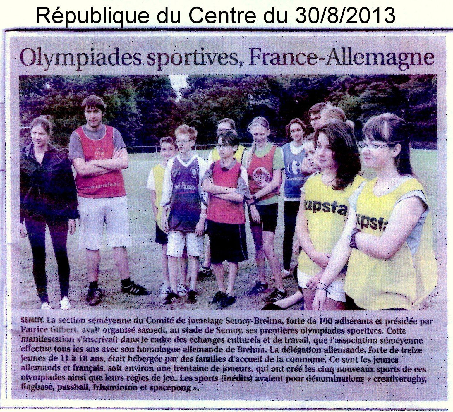 2013 rep du Centre Olympiades